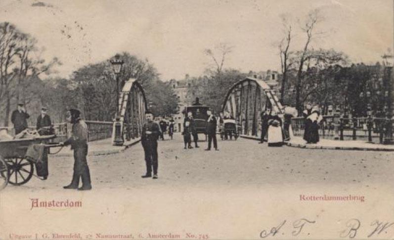 De eerste variant van de Rotterdammerbrug heeft tot 1950 dienst gedaan